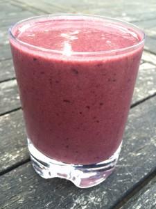 Cherry monkey juice smoothie