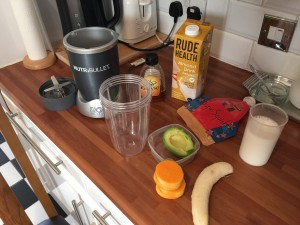 Ingredients raw butternut smoothie