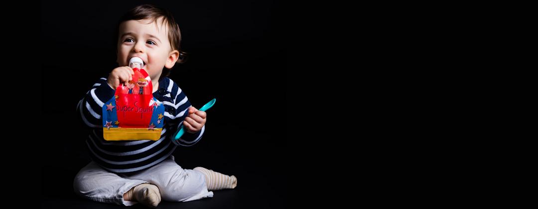 Babies love Super Squish food pouches