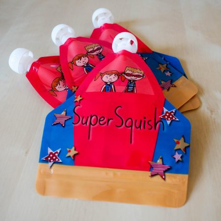 Super Squish reusable food pouch pack of 4